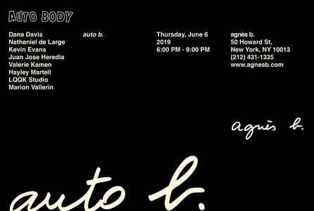 "poster for ""Auto Body"" Exhibition"