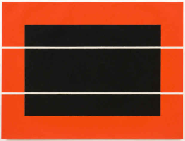 "poster for Barnett Newman, Donald Judd and Robert Motherwell ""Something Rather Than Nothing"""