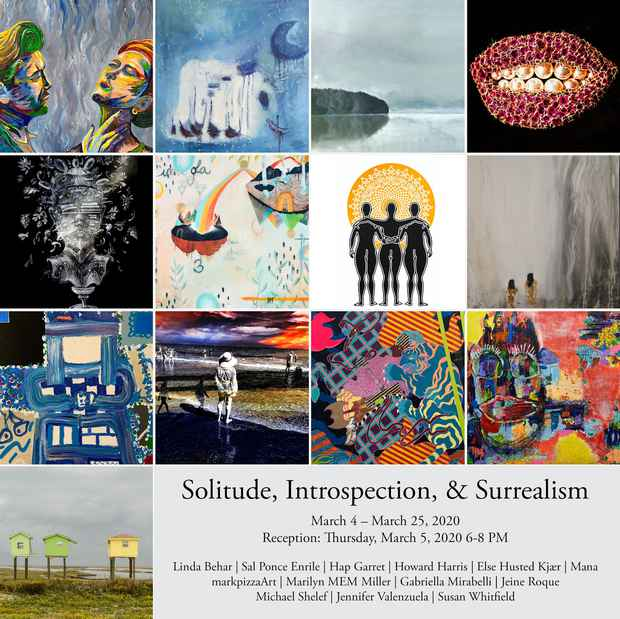 "poster for ""Solitude, Introspection & Surrealism"" Exhibition"