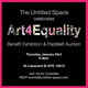 "poster for ""Art4Equality Benefit Exhibit & Paddle8 Auction"""