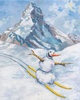 "poster for Jan Kiefer ""Skiing Snowman"""