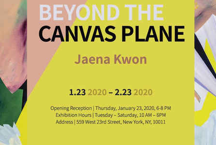 "poster for Jaena Kwon ""Beyond The Canvas Plane"""