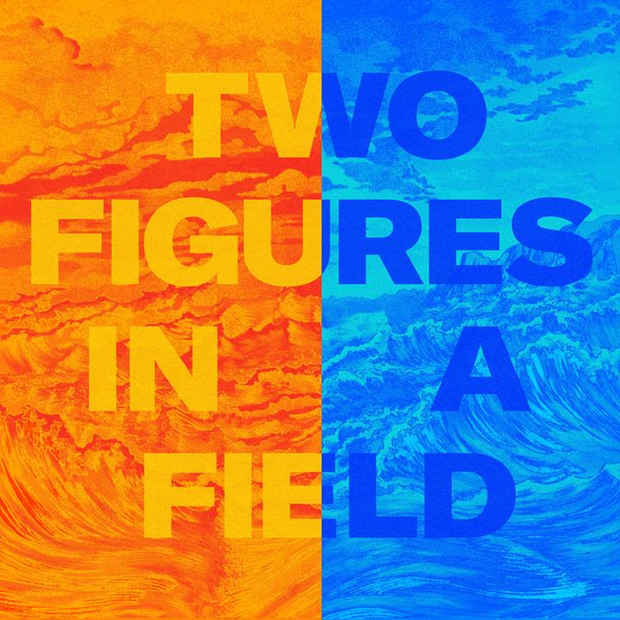 "poster for Tom Pnini ""Two Figures in a Field"""