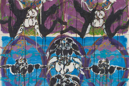 "poster for Norman Bluhm ""Space Time Continuum"""