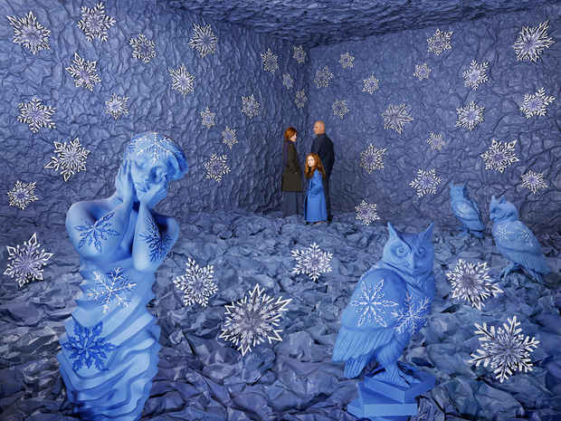 "poster for Sandy Skoglund ""Winter"""