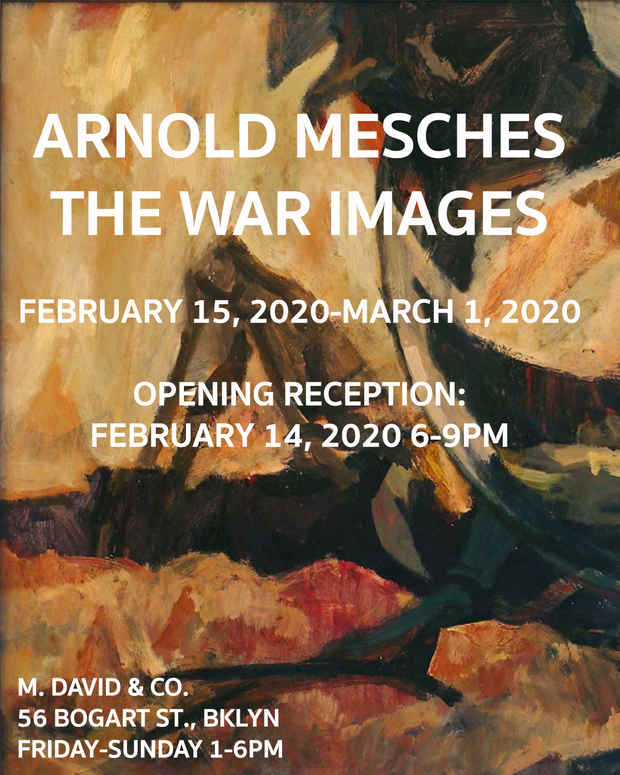 "poster for Arnold Mesches ""The War Images"""