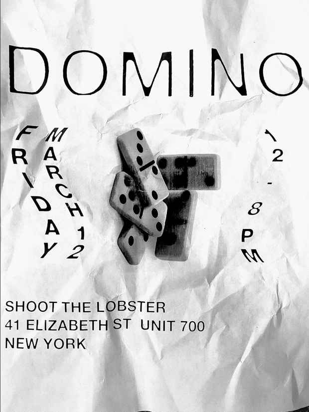 "poster for ""DOMINO"" Exhibition"