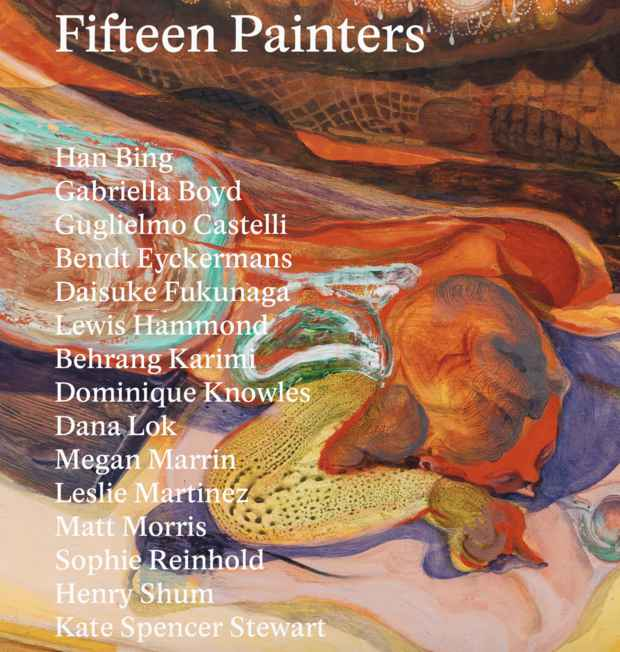 "poster for ""Fifteen Painters"" Exhibition"