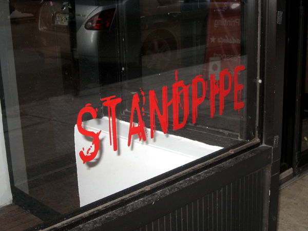 poster for StandPipe Gallery