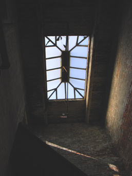 The roof window.