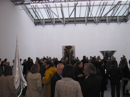 The opening reception happened on Monday, a rather strange day of the week for an opening.