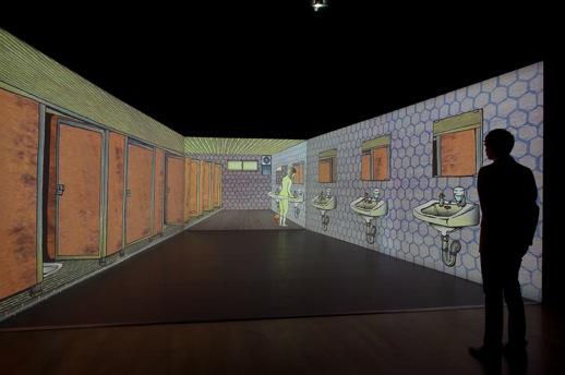 TABAIMO 'public conVENience' (2006)Video installation