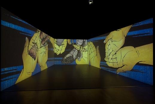 TABAIMO 'public conVENience' (2006) Video installation