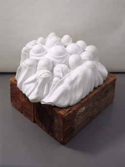 Louise Bourgeois,  'Cumul I' (1968), Marble, wood plinth, 20 1/16 x 50 x 48 1/16 inches. Centre Pompidou, Paris, © Louise Bourgeois