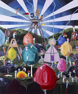 Fanny Bostrom, 'Picnic' (2008), acrylic on canvas, 72 x 60 in.