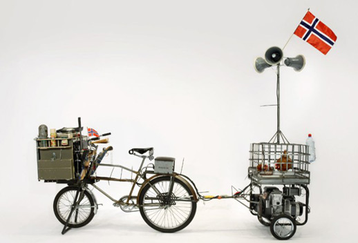Tom Sachs, 'Waffle Bike' (2008), mixed media.
