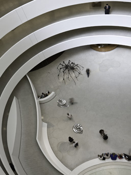 Installation view of 'Spider Couple', Untitled, and Untitled at Solomon R. Guggenheim Museum, New York, 2008 © Solomon R. Guggenheim Foundation New York. Photo by David Heald.