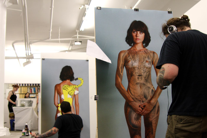 When the canvas itself becomes an image of a human body, tattooing becomes