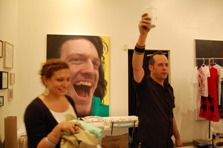A toast! Gallerist, Jasper Patch'a