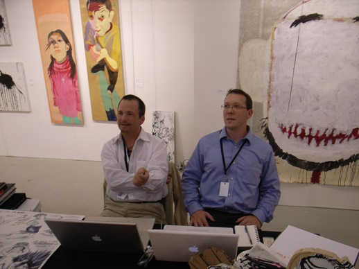 Ethan Cohen and Patrick Regan from Ethan Cohen Fine Arts, Tribeca, selling Chinese and Japanese art.