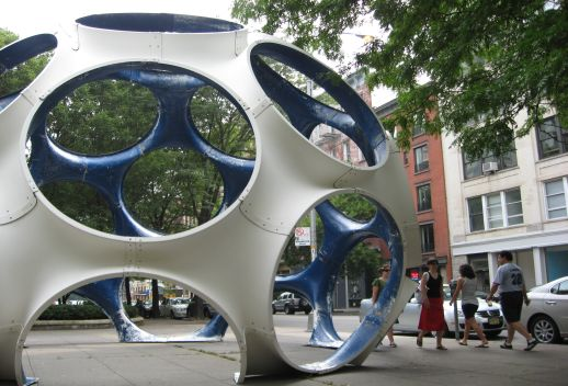 'Fly's Eye Dome' (1976) at LaGuardia Place. Photograph © Rajesh Barua.