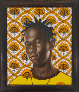 Kehinde Wiley Ibrahima Sacho 26 x 22 inches oil on canvas Courtesy the artist and Deitch Projects