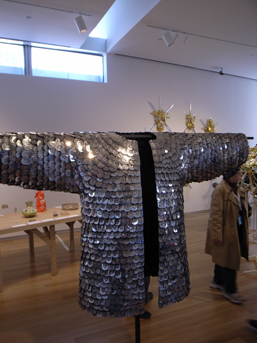 Do Ho Suh's 'Metal Jacket' made of stainless steel military dog tags.