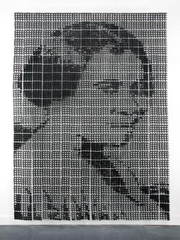 Sonya Clark, ''Madam C. J. Walker'' (large), 2008. 10' 2'' x 7' 3'' x 25''. Photo © Taylor Dabney