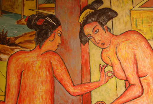 Yokoo's take on the traditional bath house painting. photo © 2008 Teri Duerr