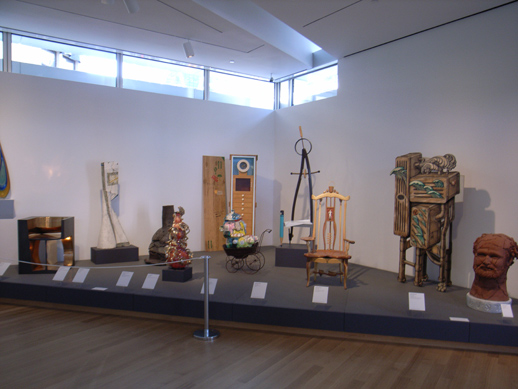 More works in the permanent collection displayed close together.