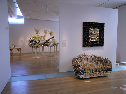 Willie Cole's 'Love Seat', made of high heel shoes.