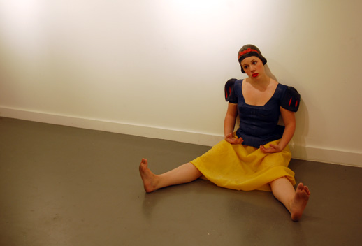 A performance piece by Catherine Bay called ''The Snow White Project.'' Photo © 2008 Matt Schlecht.
