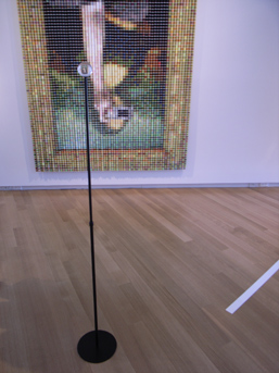 Devorah Sperber's 'After the Mona Lisa 7', made out of spools of thread.