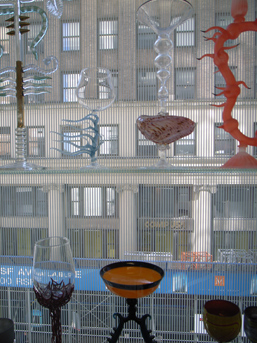 Some of the permanent collection displayed by the windows