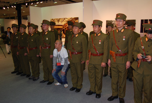 Yibin Tian and soldiers.