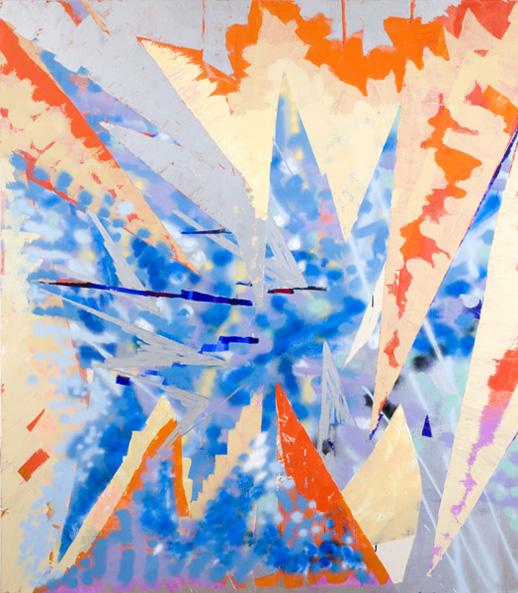 ''Boy Wonder,'' 2008. Oil, acrylic & spray-paint on canvas. 80 x 70 in. / 203 x 178 cm.