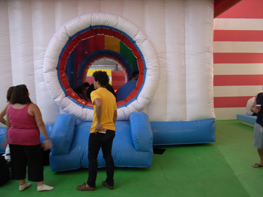 Noisy but fun installation by FriendsWithYou, ''Fun House.''