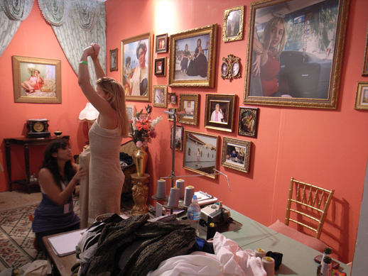 Special Project: ''GLAMiami.'' Local Miami artists transform the visitors with clothes and makeup.