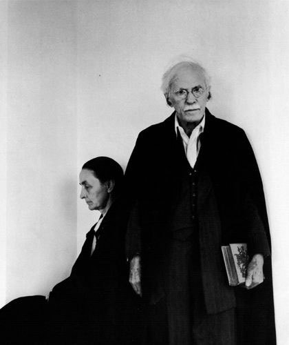 Georgia O'Keefe and Alfred Steiglitz, 1944. Photo: Arnold Newman.