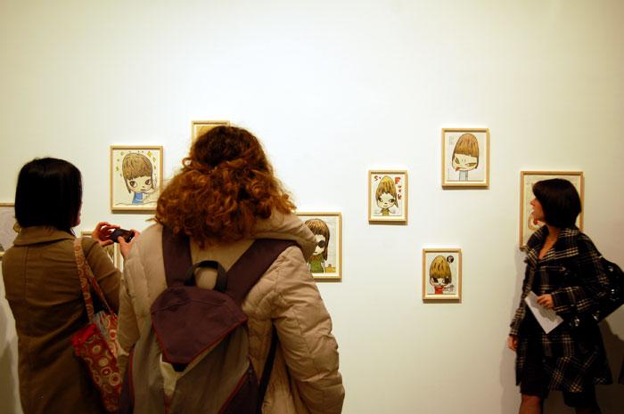 Yoshitomo Nara opening night at Marianne Boesky Gallery. Photo © 2009 Teri Duerr.
