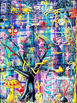 Kenny Scharf, ''Spungle.'' Courtesy Paul Kasmin Gallery.
