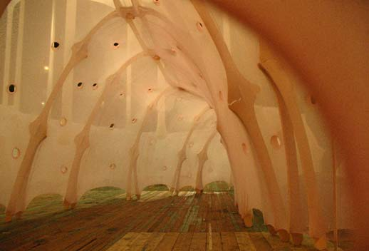 Ernesto Neto, ''anthropodino.'' Photo: Yvonne C. Olivas