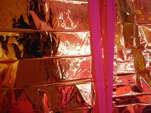 The gold foil curtain.