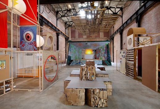 Installation view of ''The University of Trash,'' 2009. Courtesy of SculptureCenter.