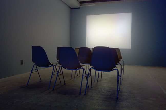 Jaret Vadera, ''1973 (When you grow up...)'' (2005). Manipulated video footage projected through translucent painted plexiglas screen, variable - Curator, Megha Ralapati. Image courtesy of PPOW Gallery.