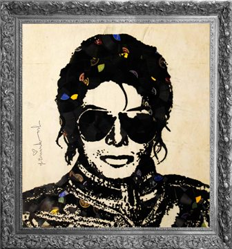 Mr. Brainwash-'Michael Jackson' Courtesy of Nadine Johnson Inc