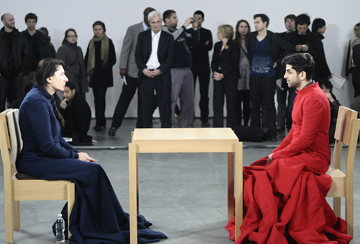 Baradaran and Abramovic face to face at MoMA