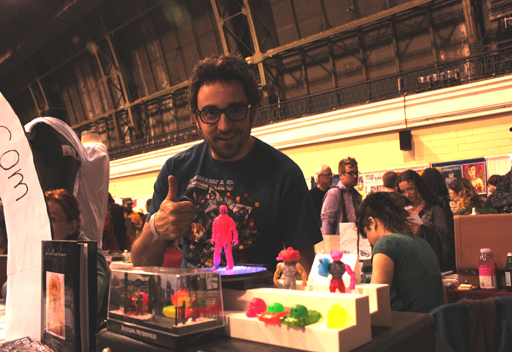 Jessie DeStasio with some of his action figures