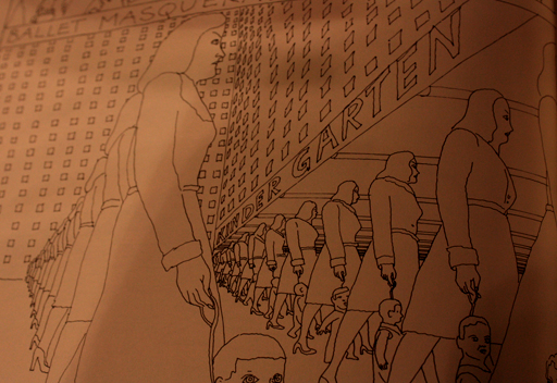 Excerpt from 'Pushwagner's Soft City', a Norwegian comic http://www.nocomprendopress.com/utgivelser/bok/soft-city/