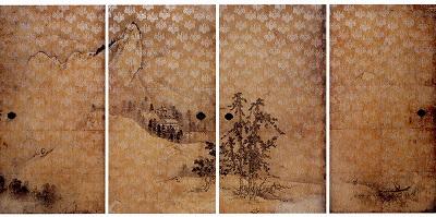 Hasegawa Tōhaku 'Sansui-zu Fusuma' (1589) 69.9 x 37.1 in. Courtesy Kodaiji Entoku Temple, Kyoto